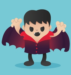 Dracula Cartoon in Halloween vector image vector image