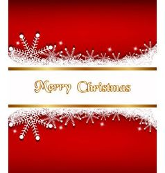 Elegant Christmas background with banner vector image vector image