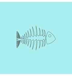 icon of fishbone vector image vector image