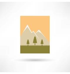 mountains icon vector image vector image