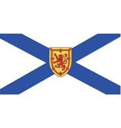 nova scotia flag vector image vector image
