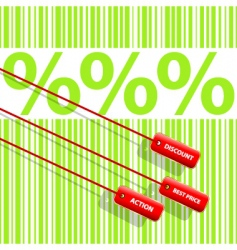 percent sign vector image vector image