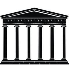 portico colonnade architecture vector image vector image