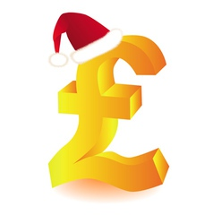 pound currency xmas vector image vector image