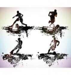 sportsmen vector image vector image