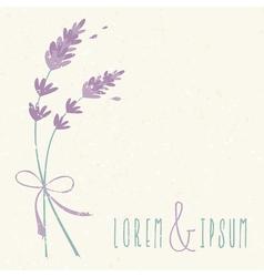 Wedding day design invitation lavender flowers vector