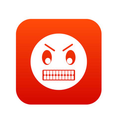 angry emoticon digital red vector image vector image