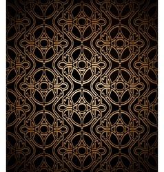 Dark gold pattern vector image vector image