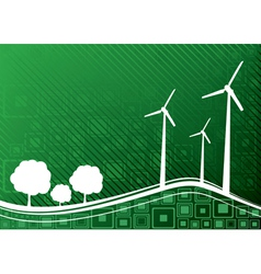 ecology concept green 1 vector image vector image