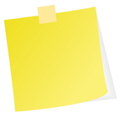 post note vector image vector image