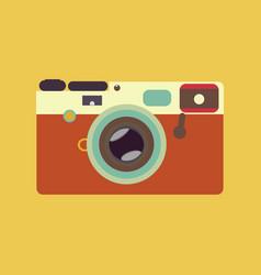 vintage rangefinder film camera vector image