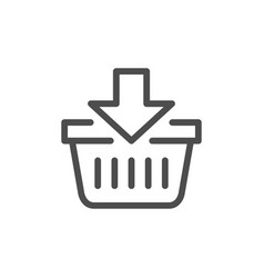 add to cart line icon vector image vector image