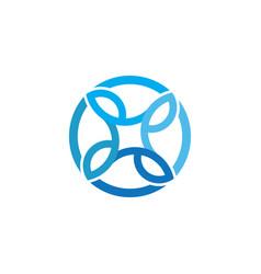 circle business ornament logo vector image