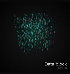 data block vector image