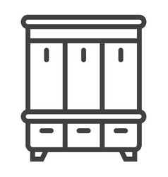 hallway closet line icon furniture and interior vector image