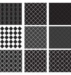 seamless pattern black diamond vector image vector image