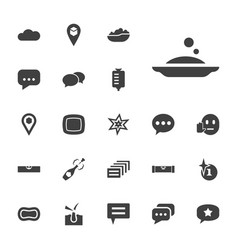 22 bubble icons vector