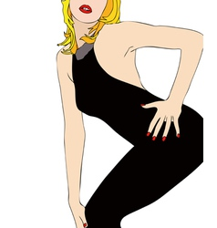 A sexy body in a tight dress vector image