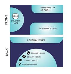 A simple business card vector