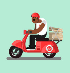 Afro american delivery boy vector