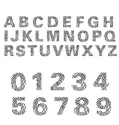 alphabet of fingerprint vector image