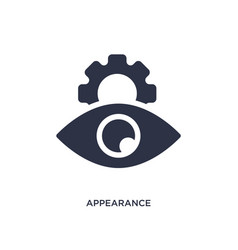 Appearance icon on white background simple vector