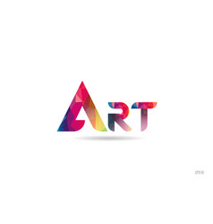 Art colored rainbow word text suitable for logo vector