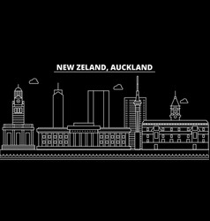 auckland silhouette skyline new zealand vector image