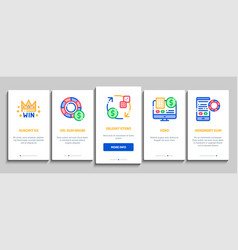 betting and gambling onboarding icons set vector image