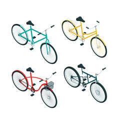 bicycles isometric various types bikes on vector image