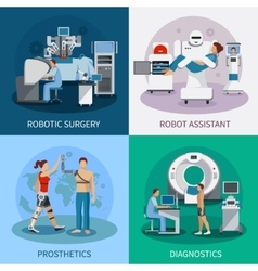 Bionic 2x2 Design Concept With Robotic Equipment vector
