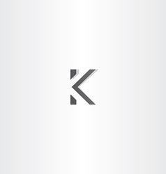 Black logo letter k sign logotype vector