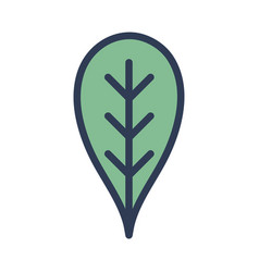 Botany leaf to ecology care symbol vector