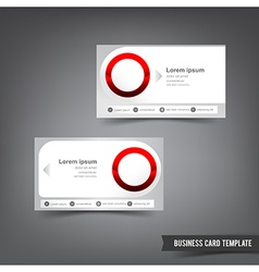 Business Card template set 034 clear style dot vector