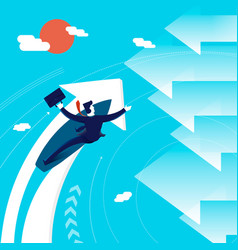 business change of direction surfing man concept vector image