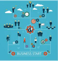 Business start workforce team working business vector