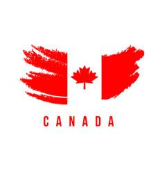 Canada flag brush logo template design vector