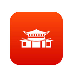 Chinese icon digital red vector