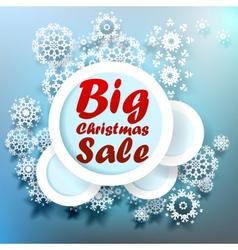 Christmas Big sale template vector image