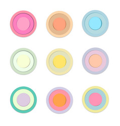 circle colored paper with shadow vector image