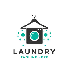 clothing laundry logo or brush cleaning booth vector image