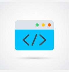 codingtrendy symbol trendy colored vector image