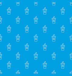 cola plastic glass pattern seamless blue vector image