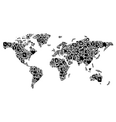 concept world map vector image