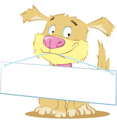 Cute dog holding his muzzle sign vector