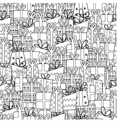 cute gifts seamless pattern doodle presents vector image