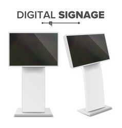 digital terminal with touch screen vector image
