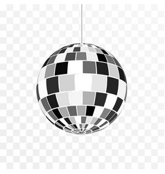 Disco ball icon symbol nightlife retro disco vector