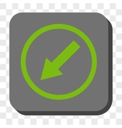 Down-Left Rounded Arrow Rounded Square Button vector image