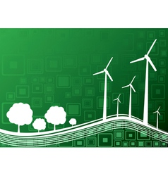 ecology concept green 2 vector image